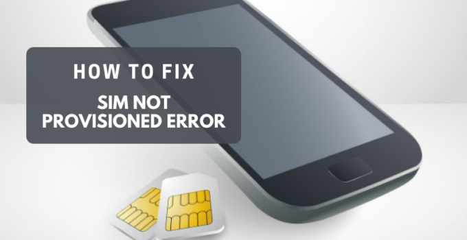sim card not provisioned