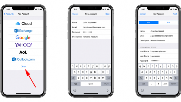 how to set up email on iphone